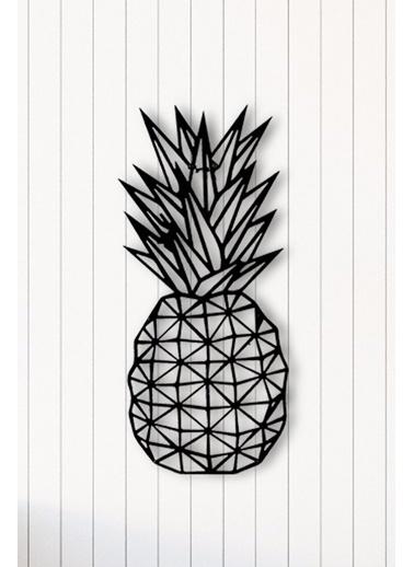 Angemiel Ananas Metal Duvar Tablosu Siyah